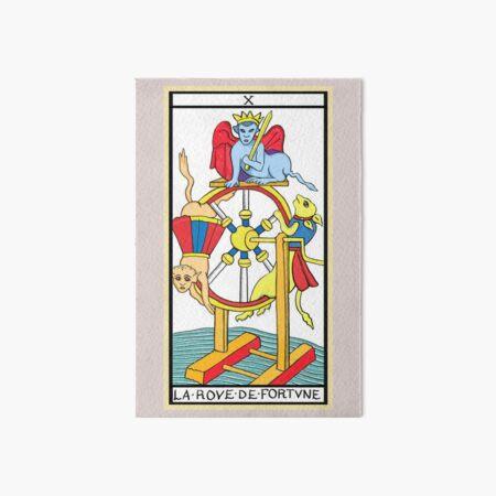 Nuovi Tarocchi di Marsiglia - La ruota della fortuna Art Board Print