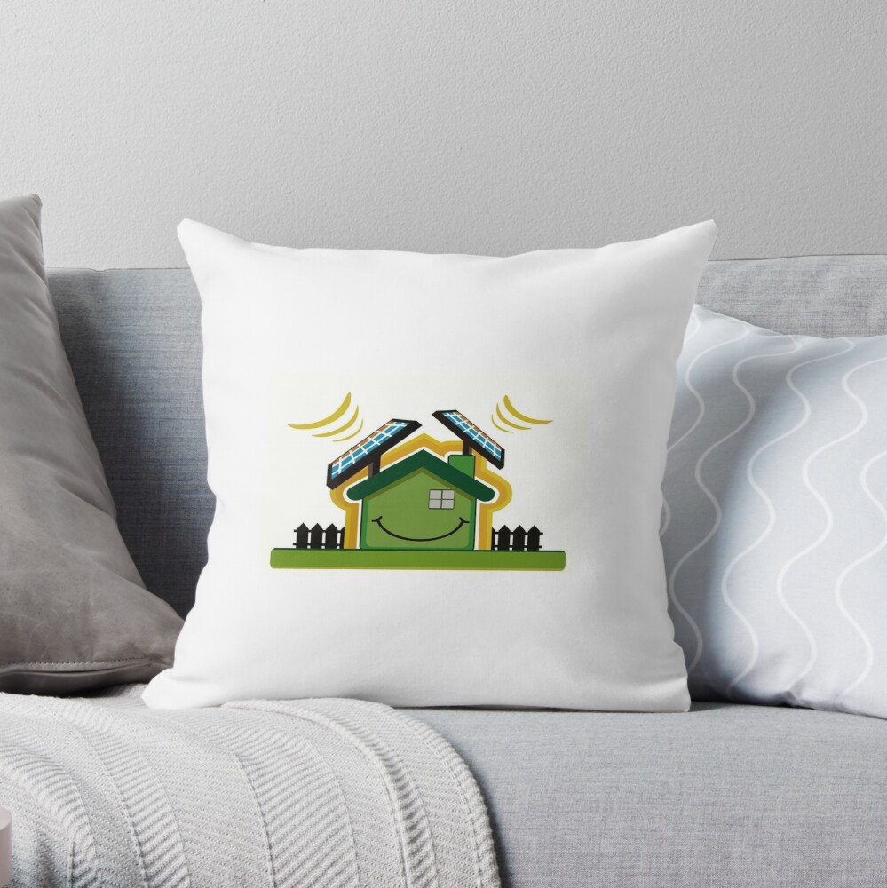 South GA Solar Power Products Throw Pillow