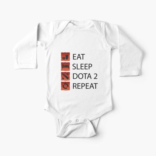 Dota 2 Gamer Life Long Sleeve Baby One-Piece