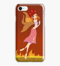 Fire Fairy Drawing - (Designs4You)  iPhone Case/Skin