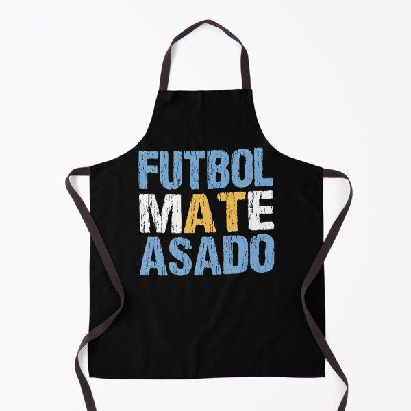 Futbol Mate Asado Argentinian Flag Argentina Distressed Apron