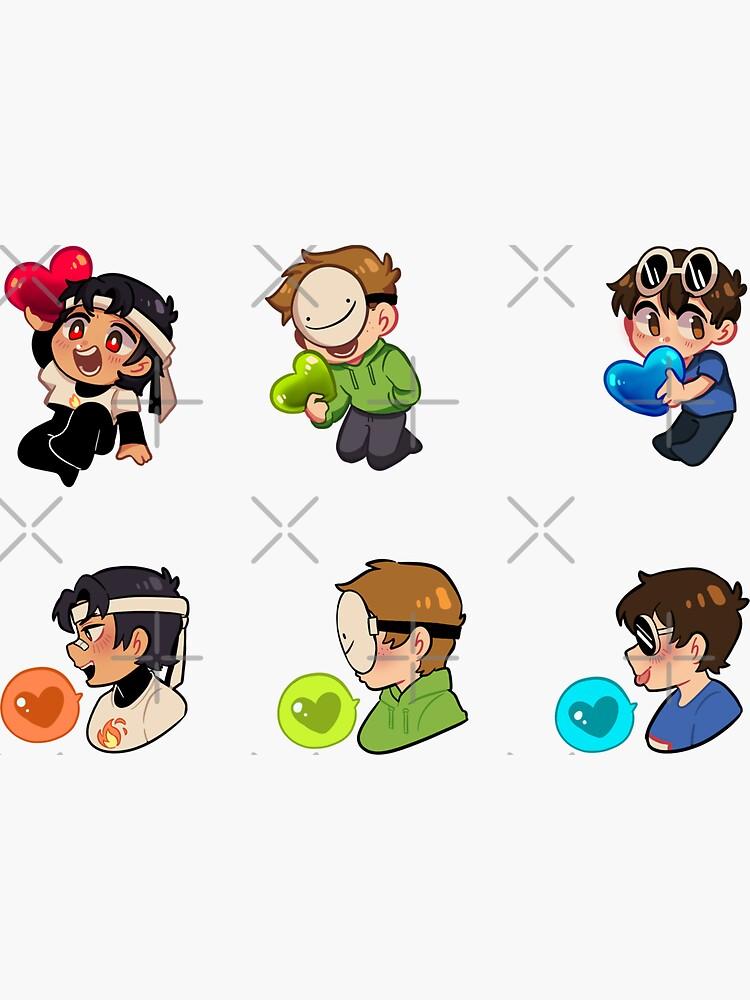 Dreamteam stickers by Gomihato