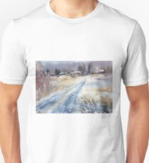 Before the Snowstorm in the Country. Russia T-Shirt
