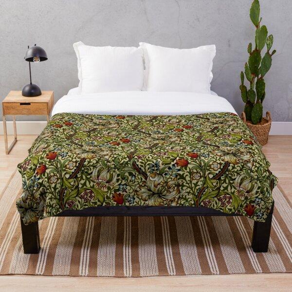 William Morris Golden Lily Throw Blanket