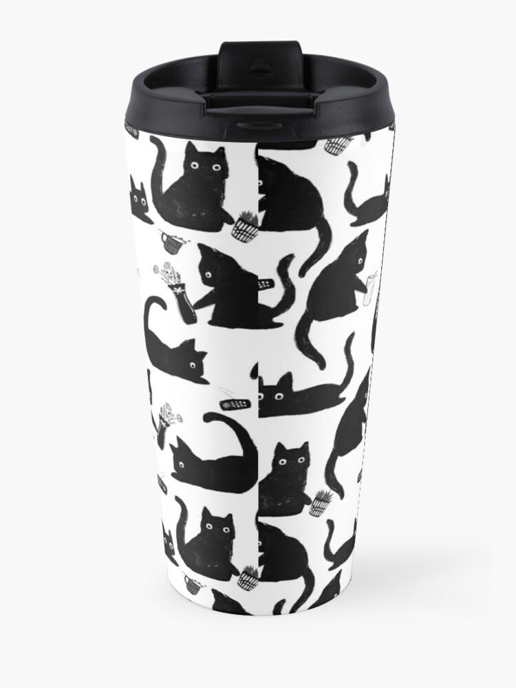 Alternate view of Bad Cats Knocking Stuff Over Travel Mug