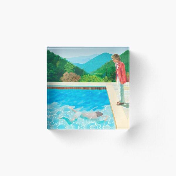 pool with two figures Acrylic Block