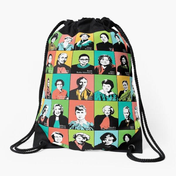 Feminist Icons Drawstring Bag
