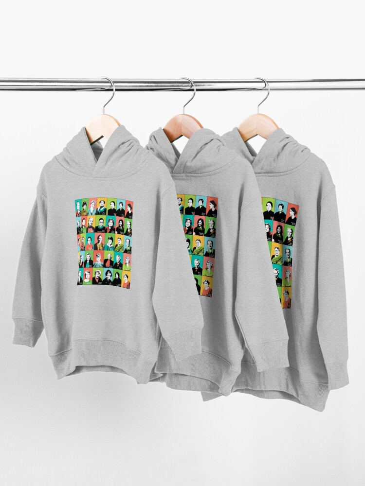 Alternate view of Feminist Icons Toddler Pullover Hoodie