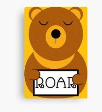 Hear the roar Canvas Print