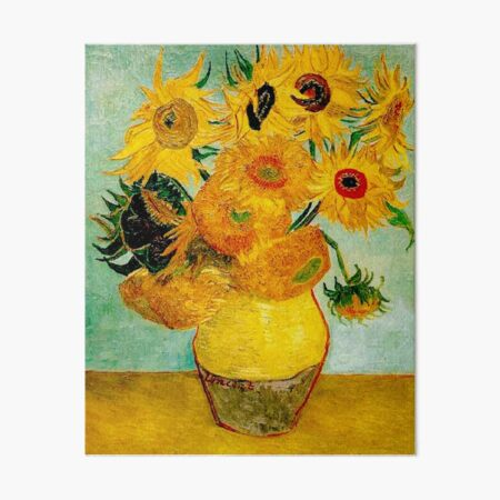 "Vincent van Gogh's Still Life -""Vase with Twelve Sunflowers"" Art Board Print"