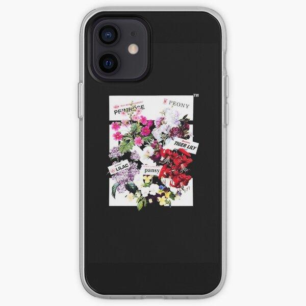 Flores blanquecinas Funda blanda para iPhone