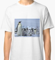 Emperor Penguin and Chicks - Snow Hill Island  Classic T-Shirt