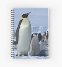 Emperor Penguin and Chicks - Snow Hill Island  Spiral Notebook