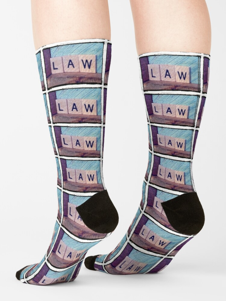 Alternate view of Law, Law student gifts, Law student, Law mask, Law socks, Law sticker,  Socks