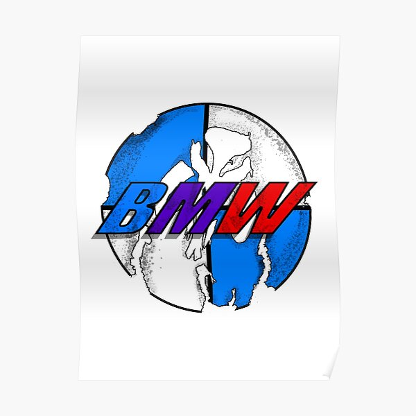 Logo BMW patiné Poster