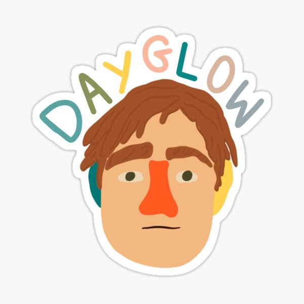 Dayglow Fuzzybrain Sticker