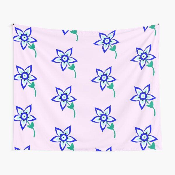 Ojo Turco Flower versión 3 Tela decorativa