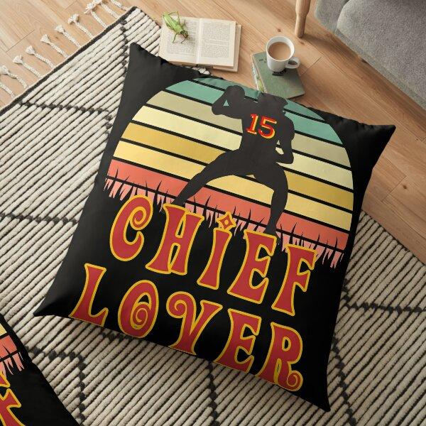 Kansas City Football Lover Chief Fan #15 Cartoon Retro Sunset Floor Pillow