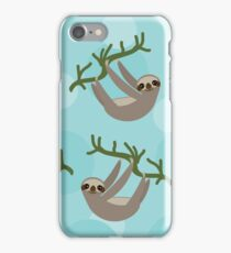 Curious sloth iPhone Case/Skin