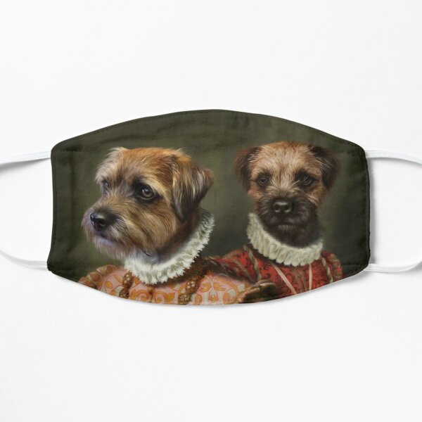 Border Terrier Dog Portrait - Holly and Ivy Flat Mask