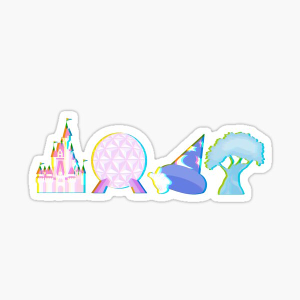 Glitched Four Park Icons Sticker