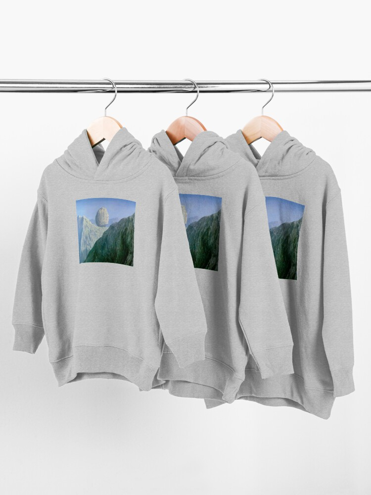 Alternate view of The Glass Key Rene Magritte Toddler Pullover Hoodie