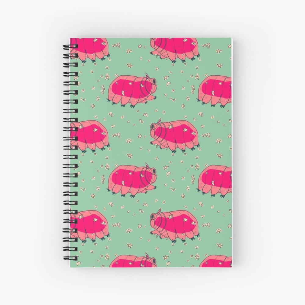 Tardigrade Party Spiral Notebook