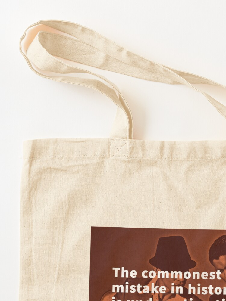 Alternate view of The commonest mistake in history is underestimating your opponent; happens at the poker table all the time. - David Shoup Tote Bag