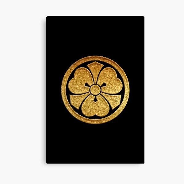 Kenkatabami Kamon in Gold Seal  Canvas Print