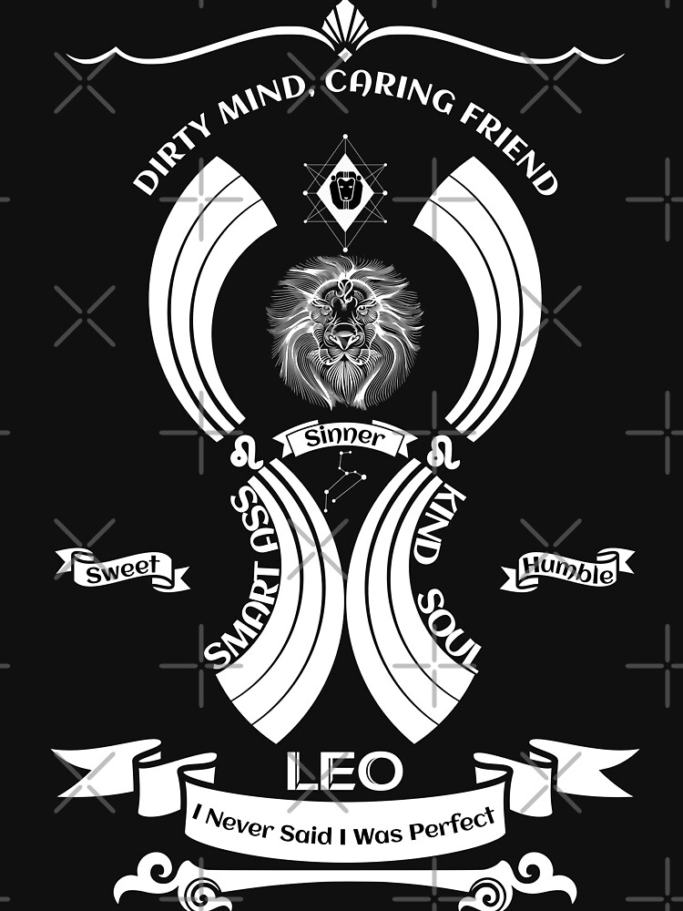 Leo Zodiac Sign Tshirt by MickyDeeTees