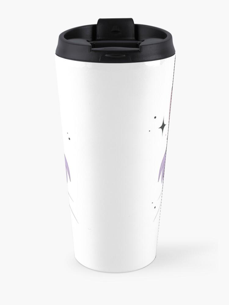 Alternate view of CHESHIRE CAT - purple Travel Mug