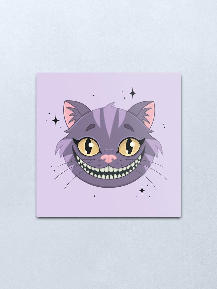 Alternate view of CHESHIRE CAT - purple Metal Print