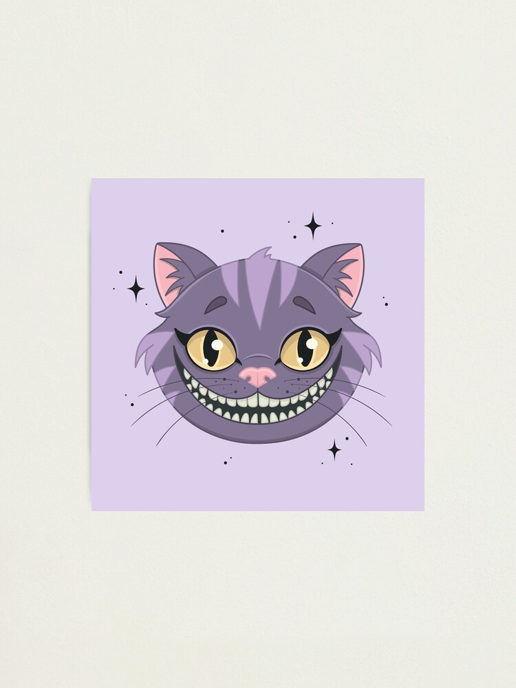 Alternate view of CHESHIRE CAT - purple Photographic Print