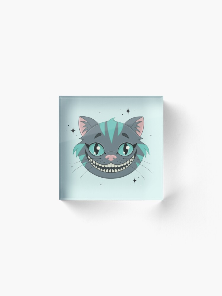 Alternate view of CHESHIRE CAT - teal Acrylic Block