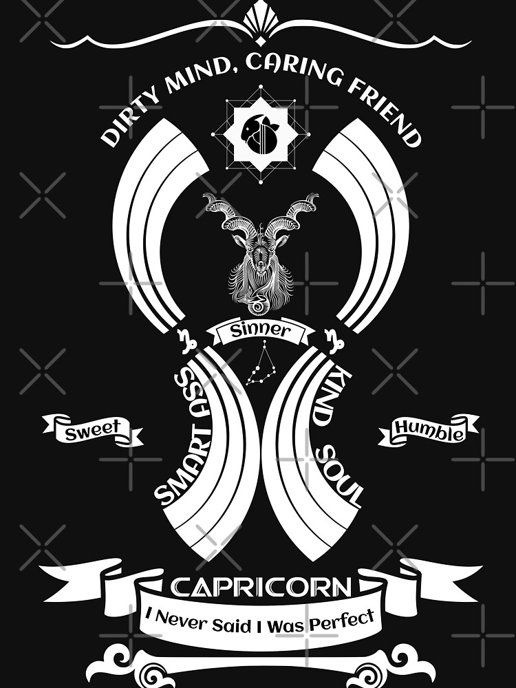 capricorn Zodiac Sign Tshirt by MickyDeeTees