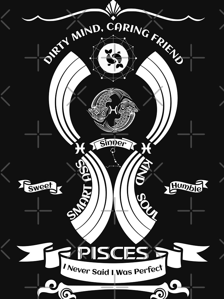 pisces Zodiac Sign Tshirt by MickyDeeTees