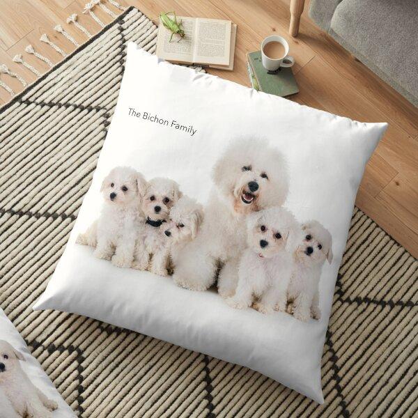 The Bichon Family pillows  Floor Pillow