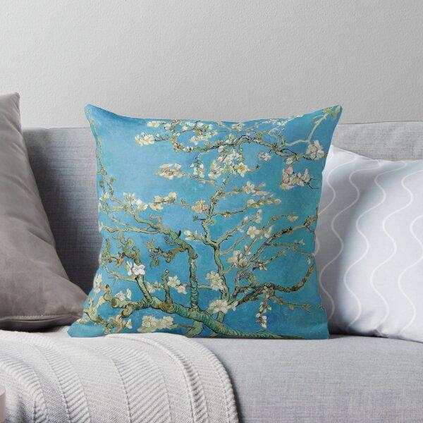 1890-Vincent van Gogh-Almond blossom-73.5x92 Throw Pillow