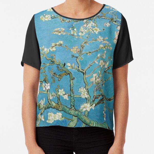 1890-Vincent van Gogh-Almond blossom-73.5x92 Chiffon Top