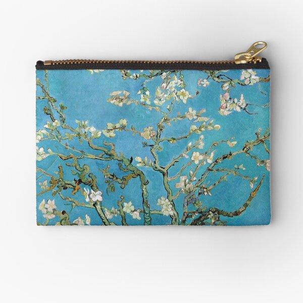 1890-Vincent van Gogh-Almond blossom-73.5x92 Zipper Pouch