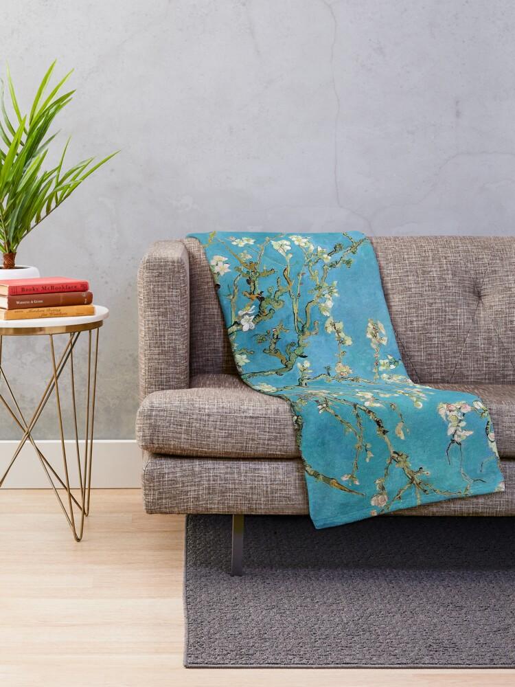 Alternate view of 1890-Vincent van Gogh-Almond blossom-73.5x92 Throw Blanket