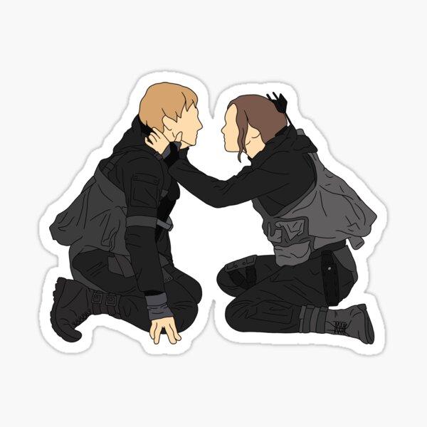 Peeta Mellark et Katniss Everdeen de The Hunger Games Sticker