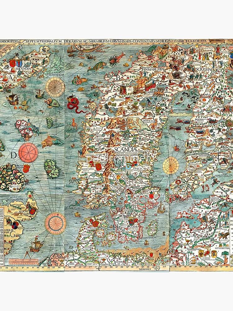 Carta Marina, map of Scandinavia by Olaus Magnus - 1539 by paulrommer