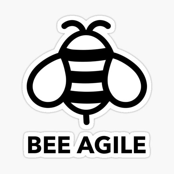 Bee Agile Sticker