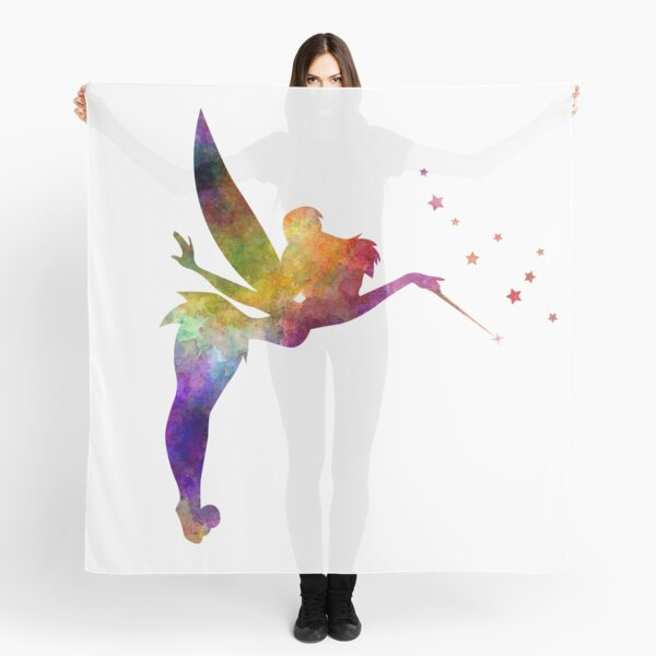 Tinkerbell in watercolor Scarf