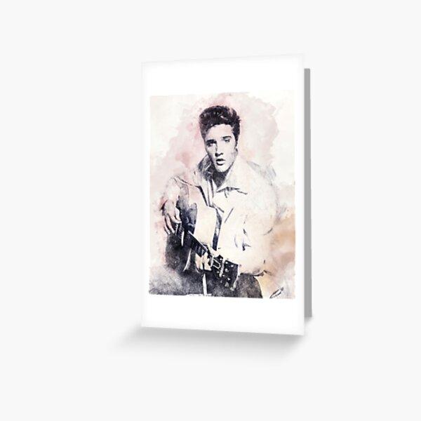 Elvis presley portrait 01 Greeting Card