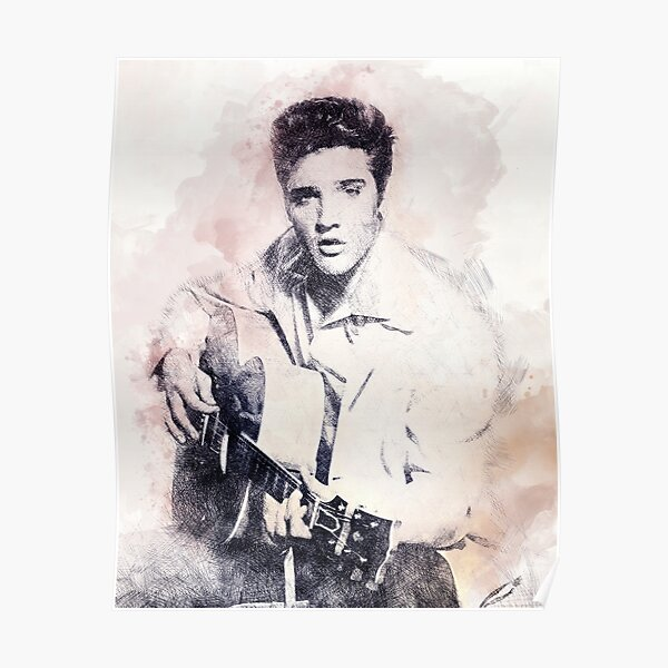 Elvis Presley portrait 01 Poster