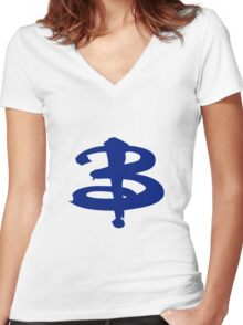 Buffy The Vampire Slayer 'B' v4.0 Women's Fitted V-Neck T-Shirt