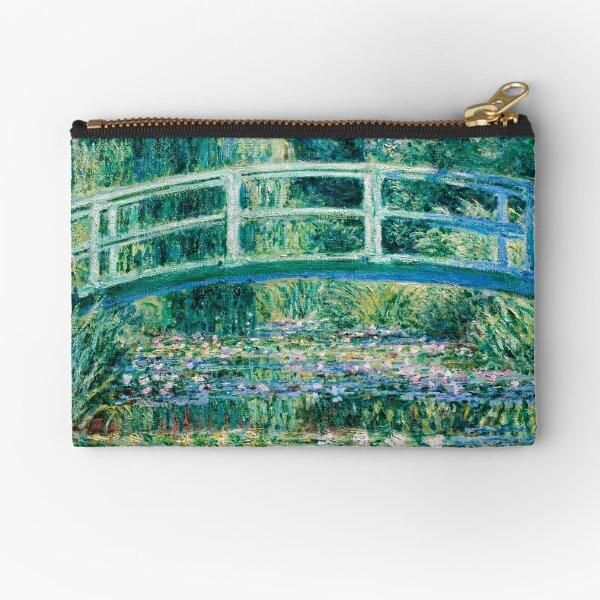 1899-Claude Monet-Water Lilies and Japanese Bridge Zipper Pouch