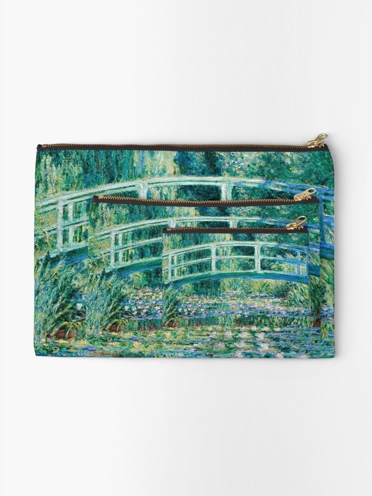 Alternate view of 1899-Claude Monet-Water Lilies and Japanese Bridge Zipper Pouch